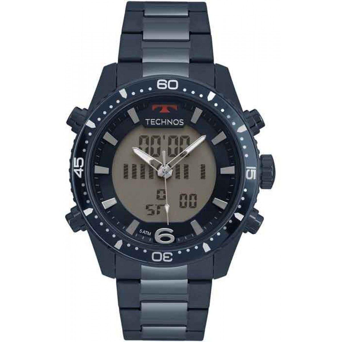 Relógio Technos Masculino Azul Anadigi BJK203AAE/4A