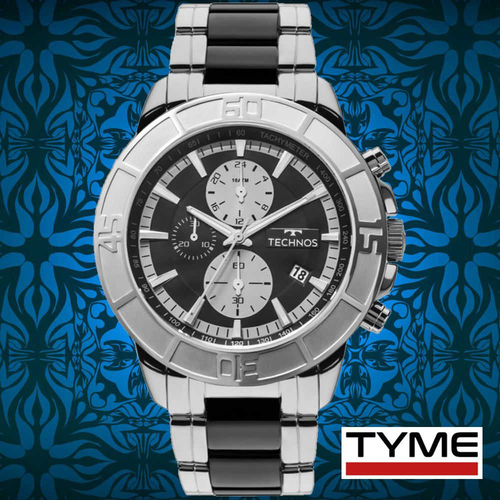 Relógio Technos Masculino Cerâmica Safira JS15EU/1P