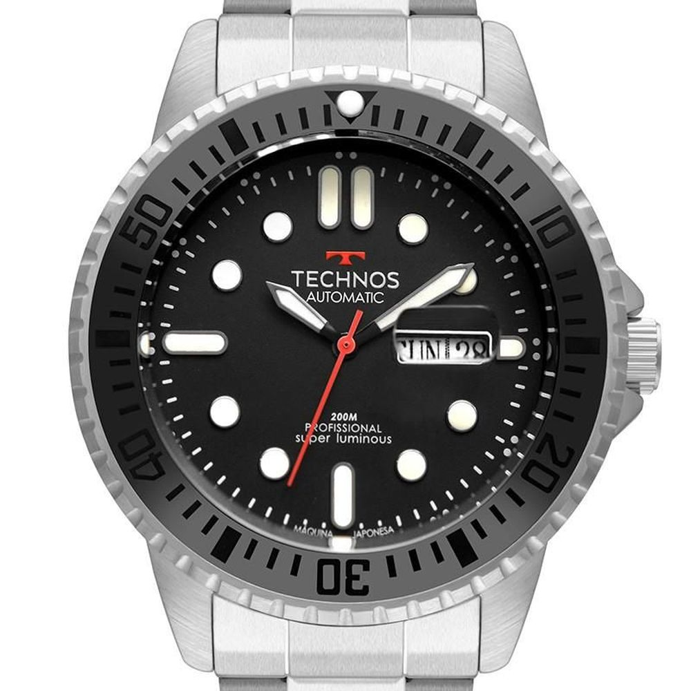Relógio Technos Masculino Classic Automático 200M 8205OJ/1P
