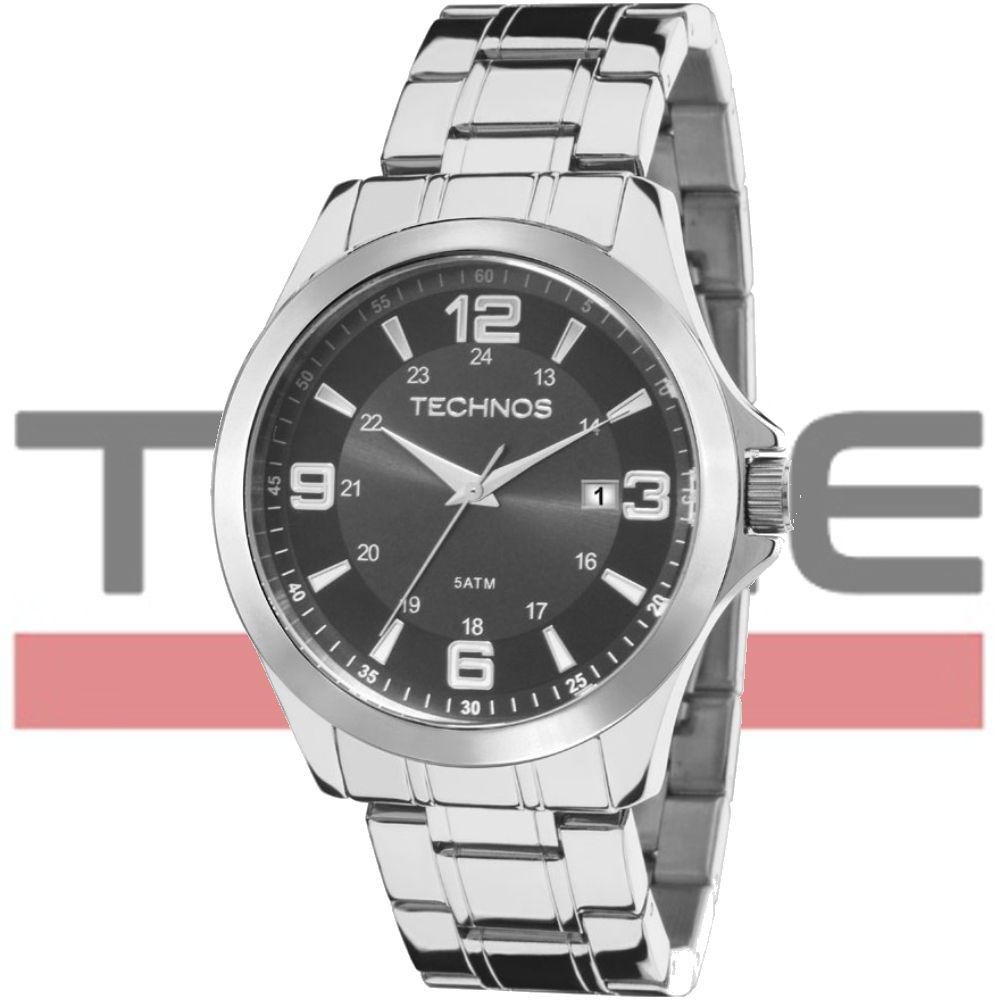 Relógio Technos Masculino Classic Steel 2115MKT/1C