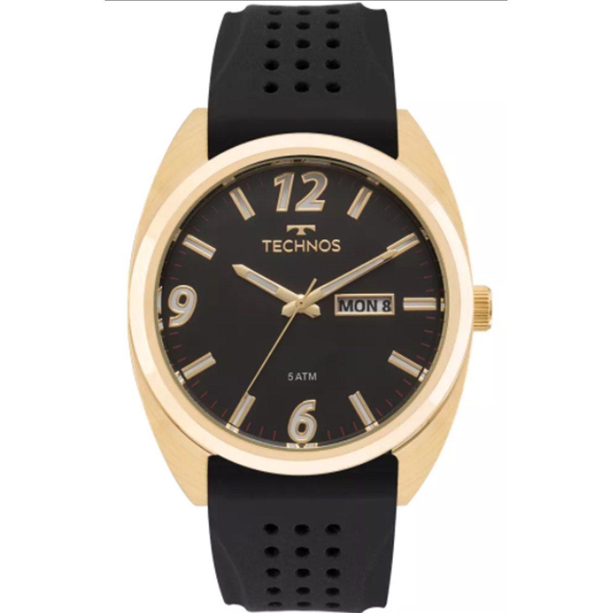 Relógio Technos Masculino Racer Dourado 2305AT/8P