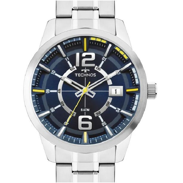 Relógio Technos Masculino Racer Prateado 2315KZU/1A