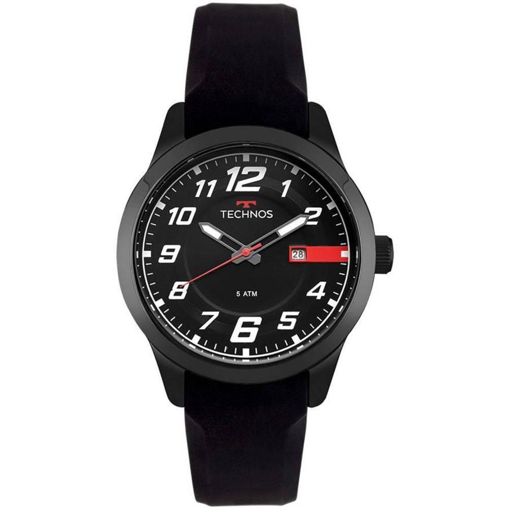 Relógio Technos Masculino Racer Preto Silicone 2115MOV/8P