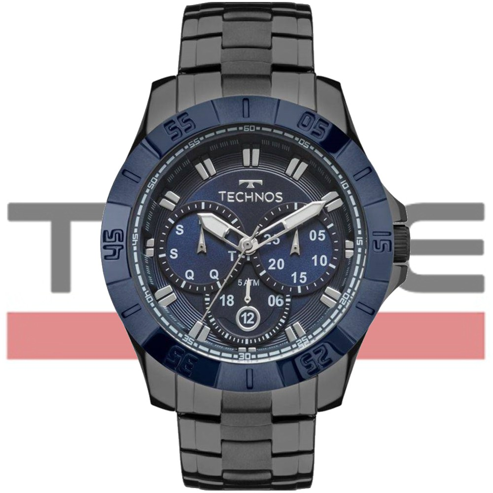Relógio Technos Masculino Skymaster Grafite 6P79BE/4C