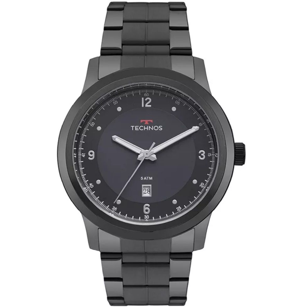 Relógio Technos Masculino Steel 2115MRG/4A Grafite