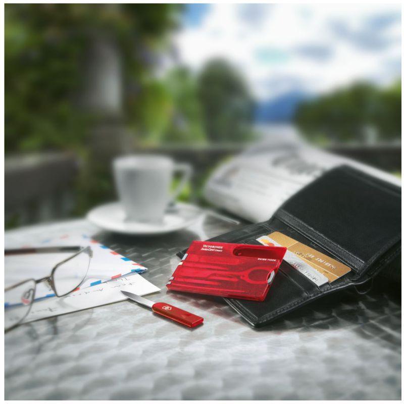 Swisscard Victorinox Classic Vermelho Translúcido 0.7100.T