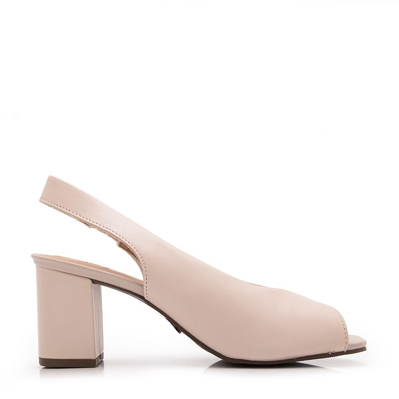 PEEP TOE SALTO BLOCO SLING BACK