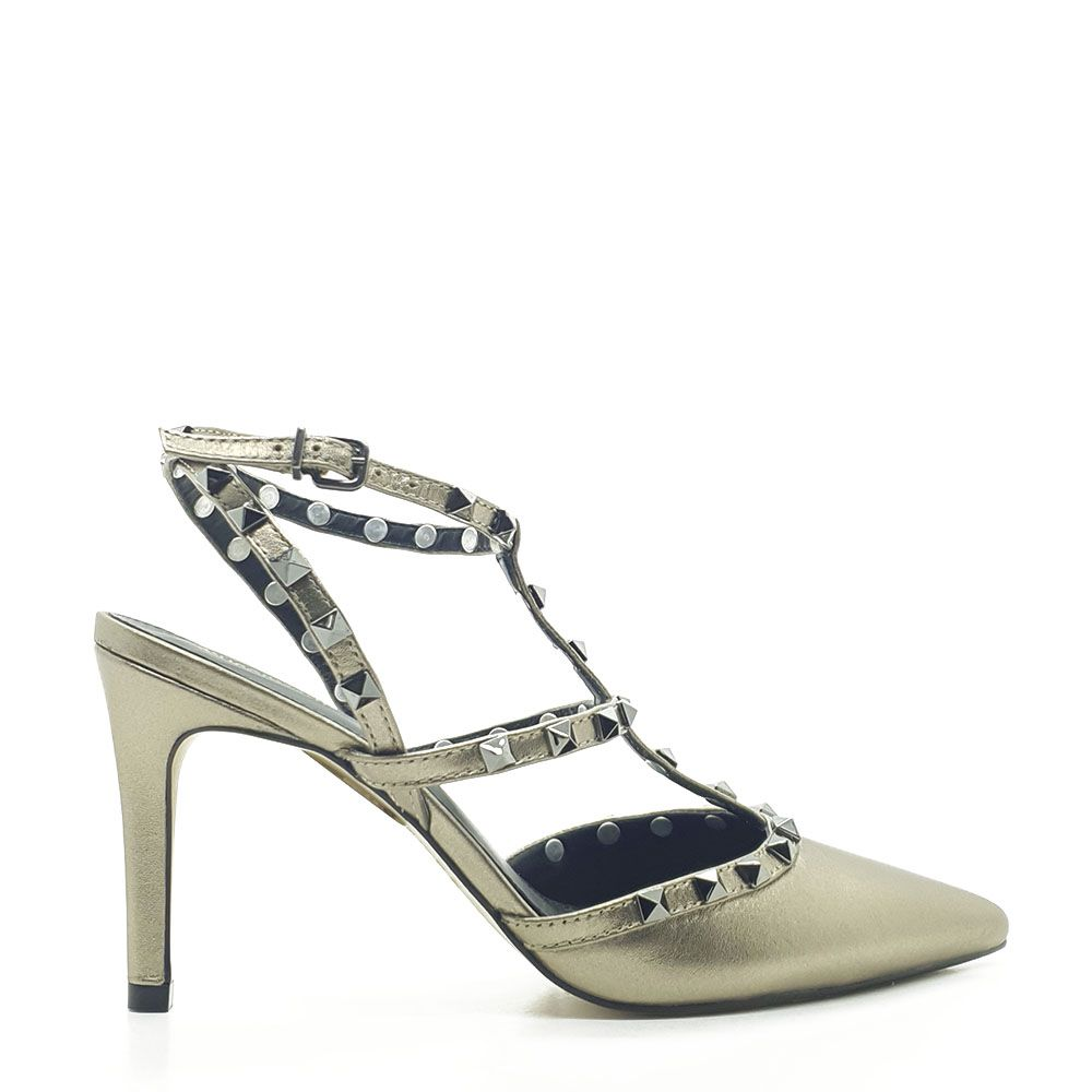 SCARPIN CHANEL INSPIRED METAL COURO