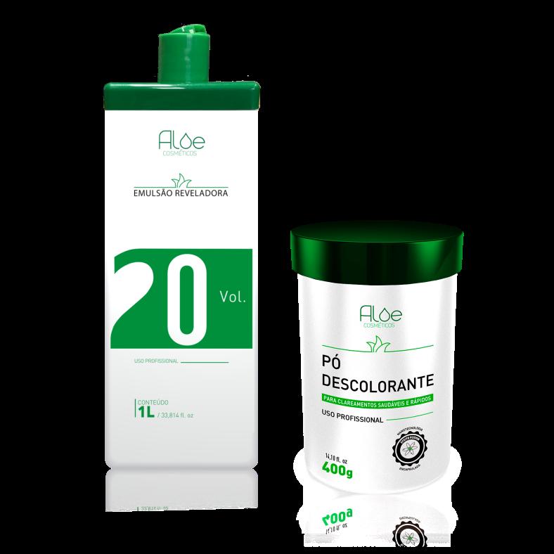 Kit OX 20 + Pó Descolorante Aloe Cosméticos