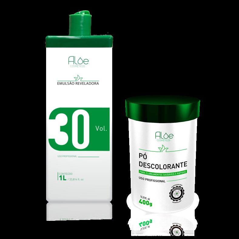 Kit OX 30 + Pó Descolorante Aloe Cosméticos