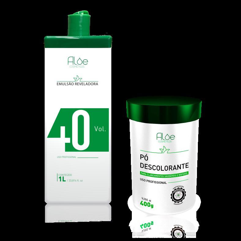 Kit OX 40 + Pó Descolorante Aloe Cosméticos
