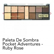 Paleta De Sombra Pocket Adventures Matte Ruby Rose Hb 9949
