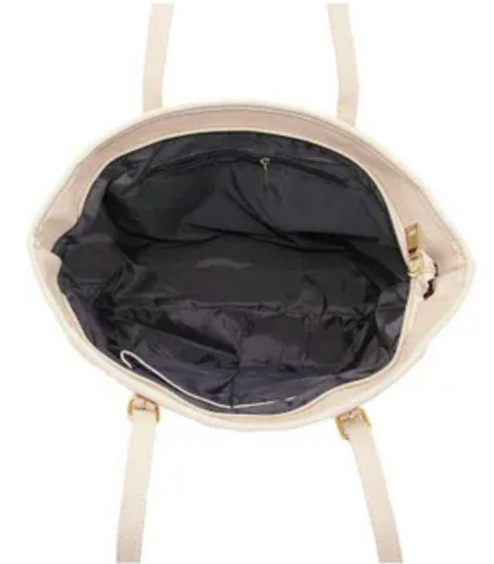 Big Bag Bolsa de ombro grande em couro sintético