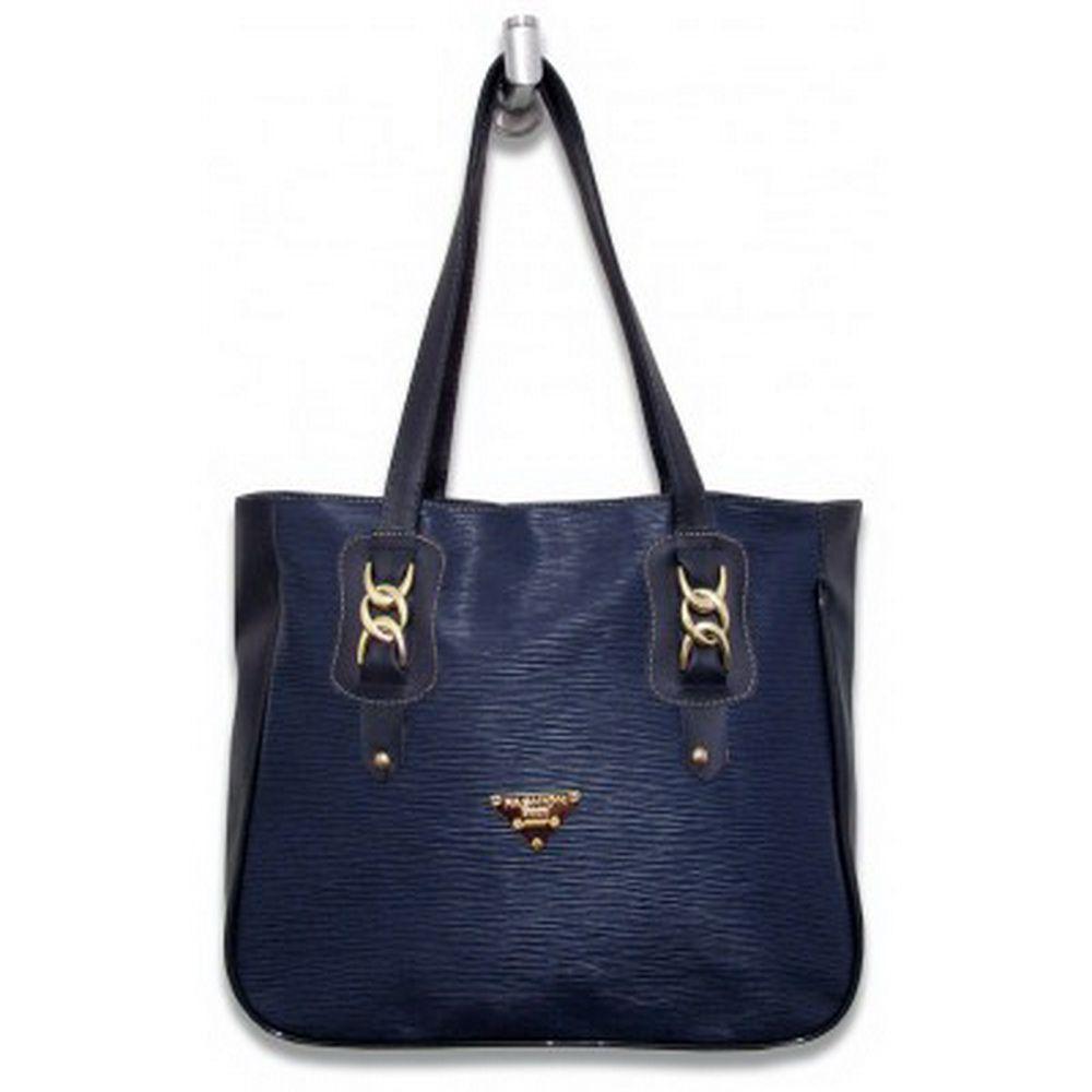 Bolsa Azul Grande em sintético