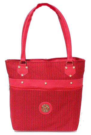 Bolsa Big Bag Vermelha em lona com ziper