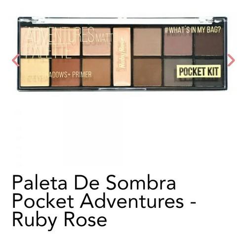 Paleta De Sombra Pocket Adventures Matte Ruby Rose Hb 9949
