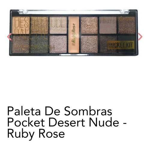 Paleta De Sombra Pocket Desert Nude Ruby Rose Hb 9944