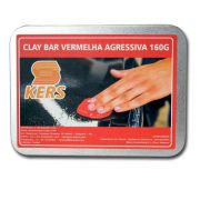 Clay Bar Vermelha Agressiva - 160gr - Kers