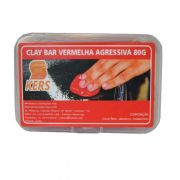 Clay Bar Vermelha Agressivo - 80gr - Kers