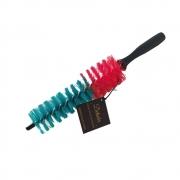 Escova para Furo de Rodas Pequena - Verde/Vermelha - Mandala/Detailer