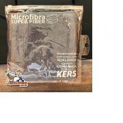Toalha de Microfibra Super Fiber 60x40cm CINZA - Kers - 300gsm