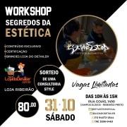 "WORKSHOP ""SEGREDOS DA ESTÉTICA"" - 30 DE OUTUBRO DE 2020"