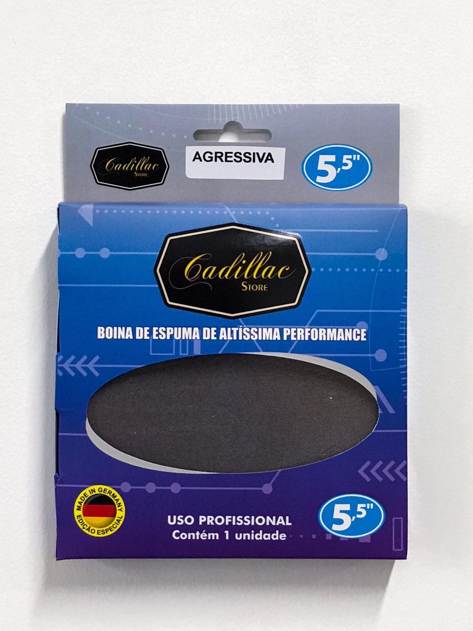 "Boina de Espuma de Altíssima Performance 5,5"" - AGRESSIVA/CORTE - CADILLAC"