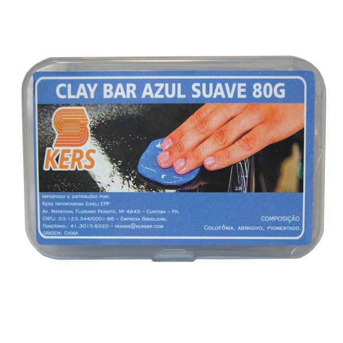 Clay Bar Azul Suave - 80gr - Kers