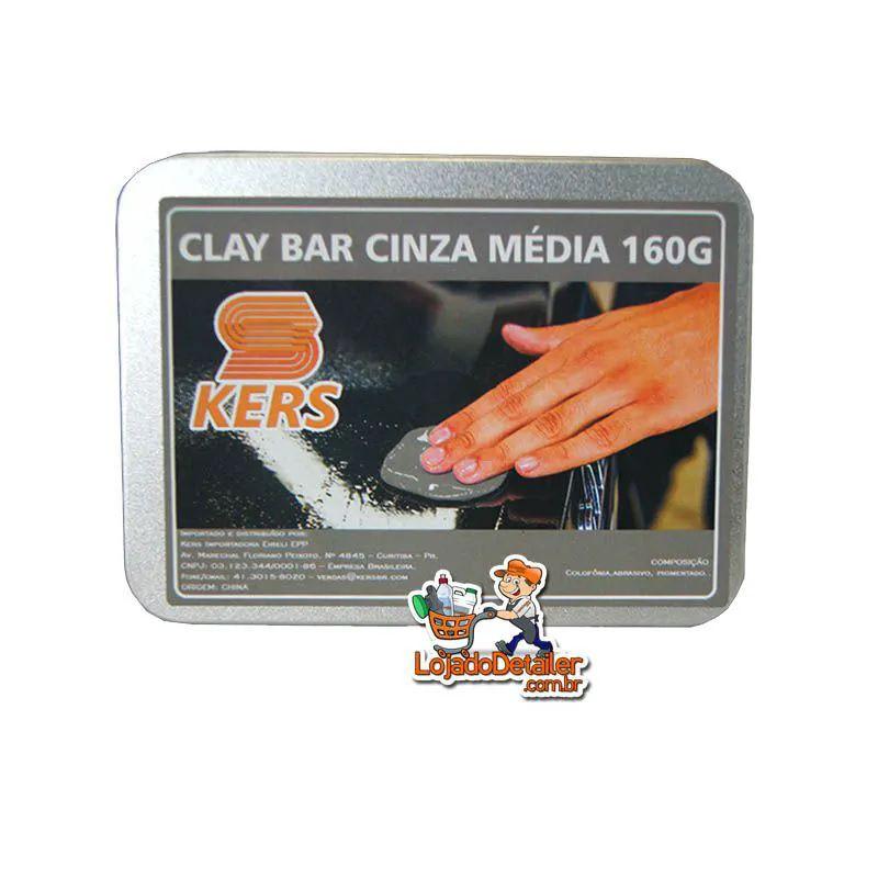 Clay Bar Cinza Média - 160 gr - Kers