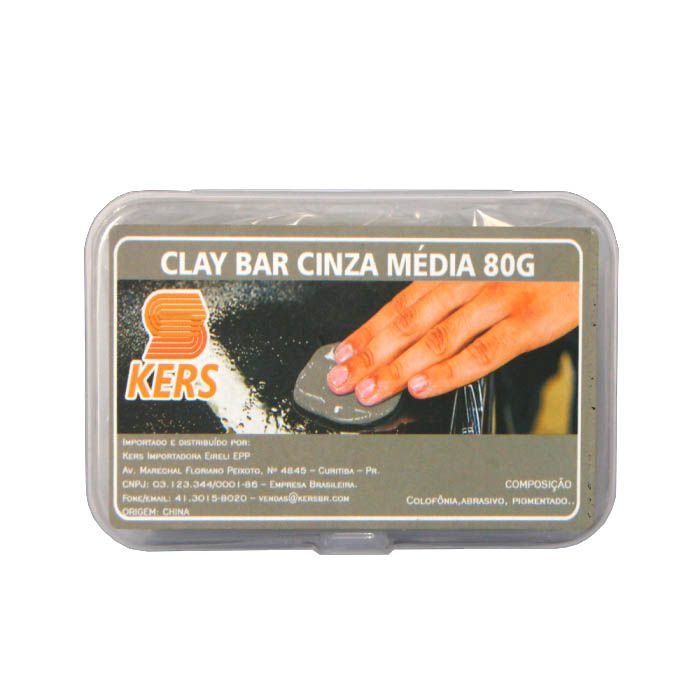 Clay Bar Cinza Media - 80gr - Kers
