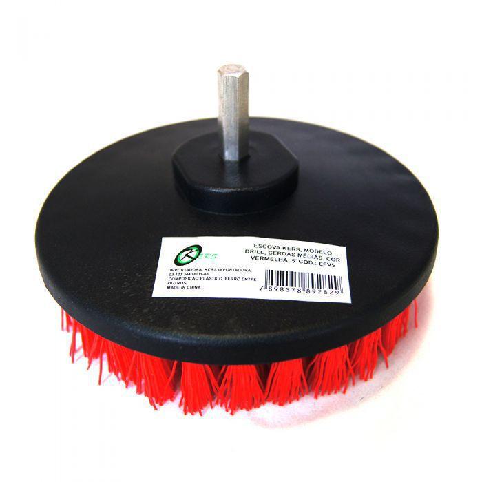 Escova Drill Rotativa Super Agressiva 5'' - Para Furadeira - EFV5 -Kers