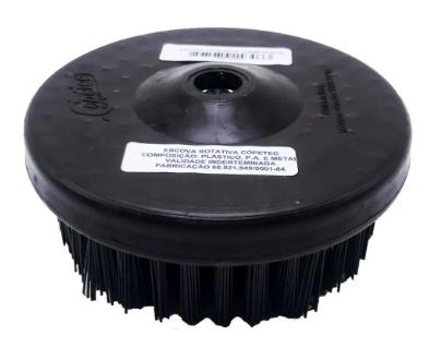 Escova para Limpeza de Estofados - Uso Em Politriz M14 - 120mm - Agressiva / Preta - COPETEC