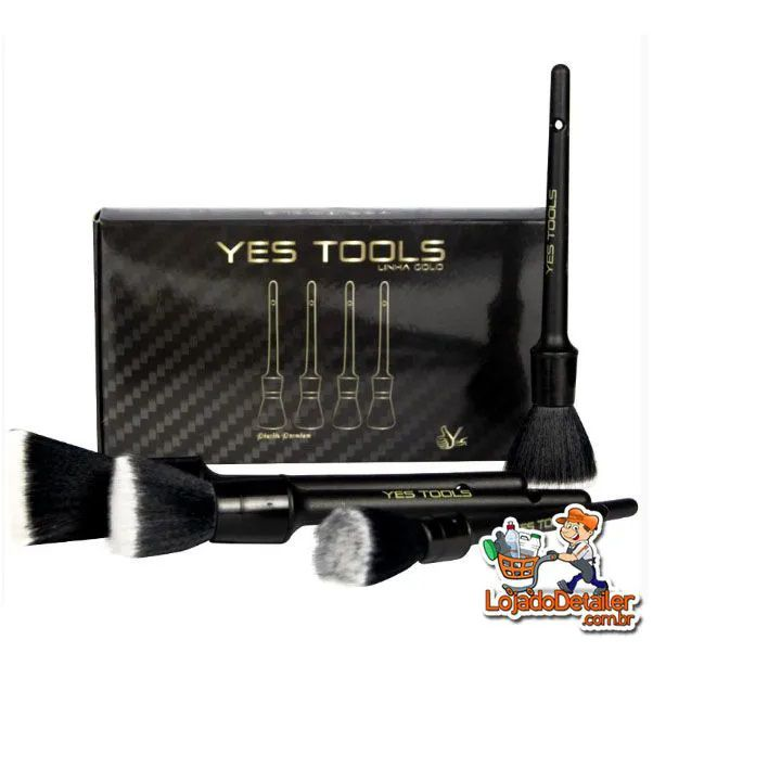 Pincel Premium para Detalhamento Automotivo - 4pçs - Yes Tools