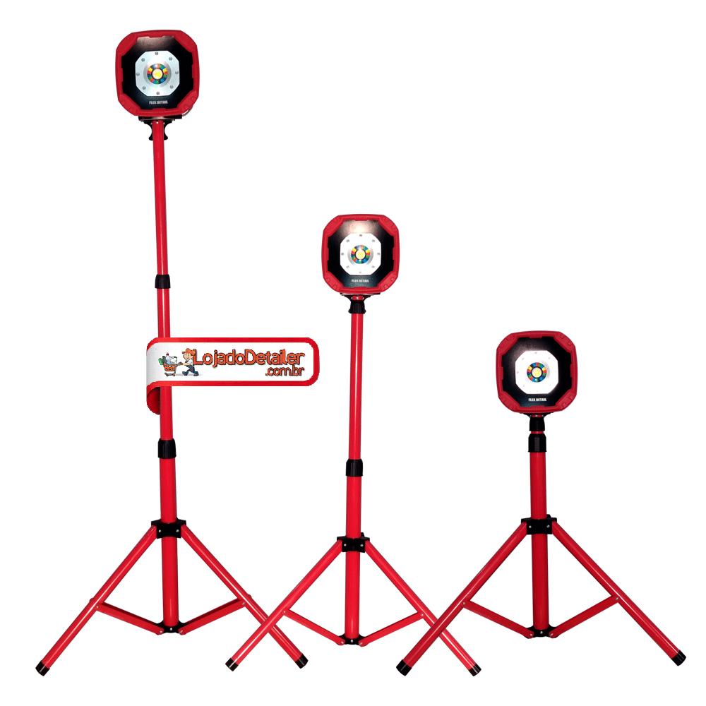 Refletor Holofote 26w Com Tripe Recarregável Flex Detail - Yes Tools