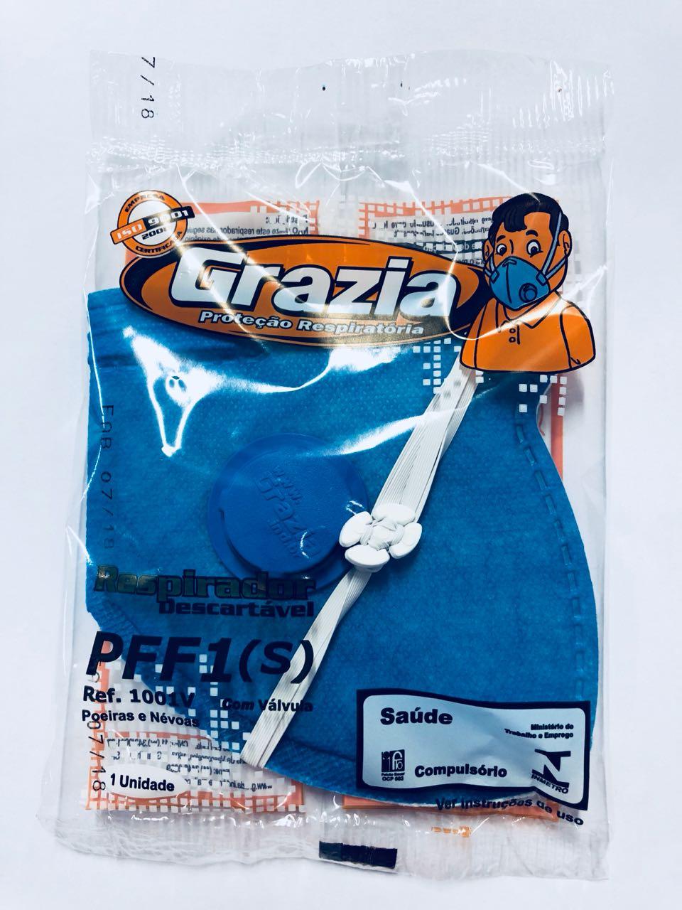 Respirador Descartável PFF1 c/ Válvula - Grazia