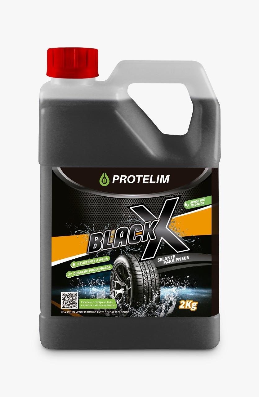 SELANTE PARA PNEUS BLACK X - PNEU PRETINHO - 2Kg - PROTELIM