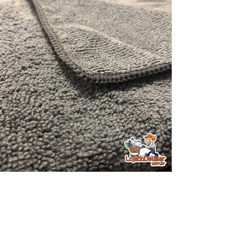 Toalha de Microfibra Super Fiber 40x40cm CINZA - Kers - 300gsm
