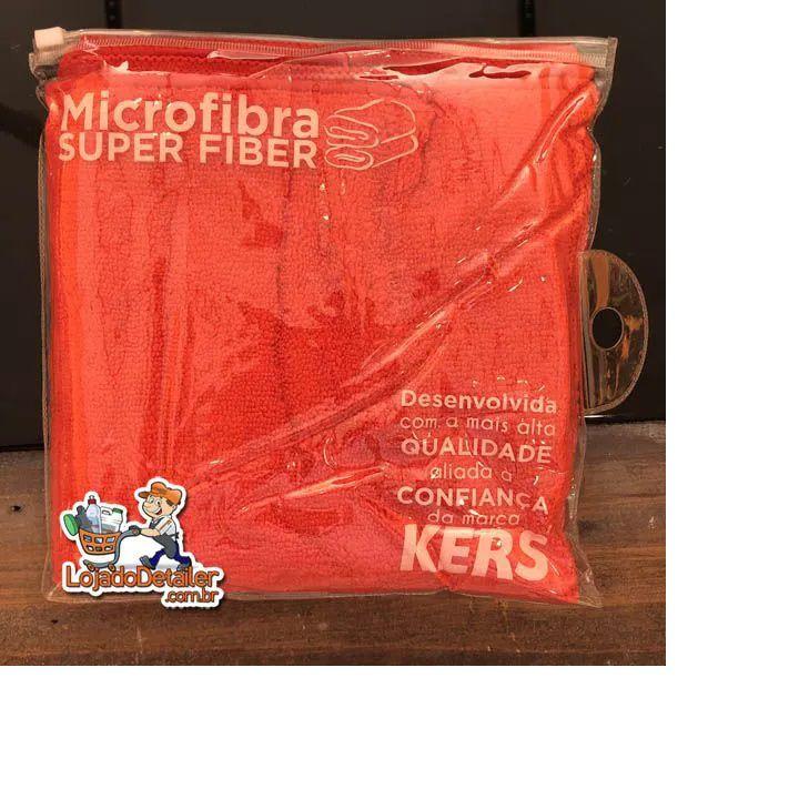 Toalha de Microfibra Super Fiber 60x40cm Vermelha - Kers - 300gsm