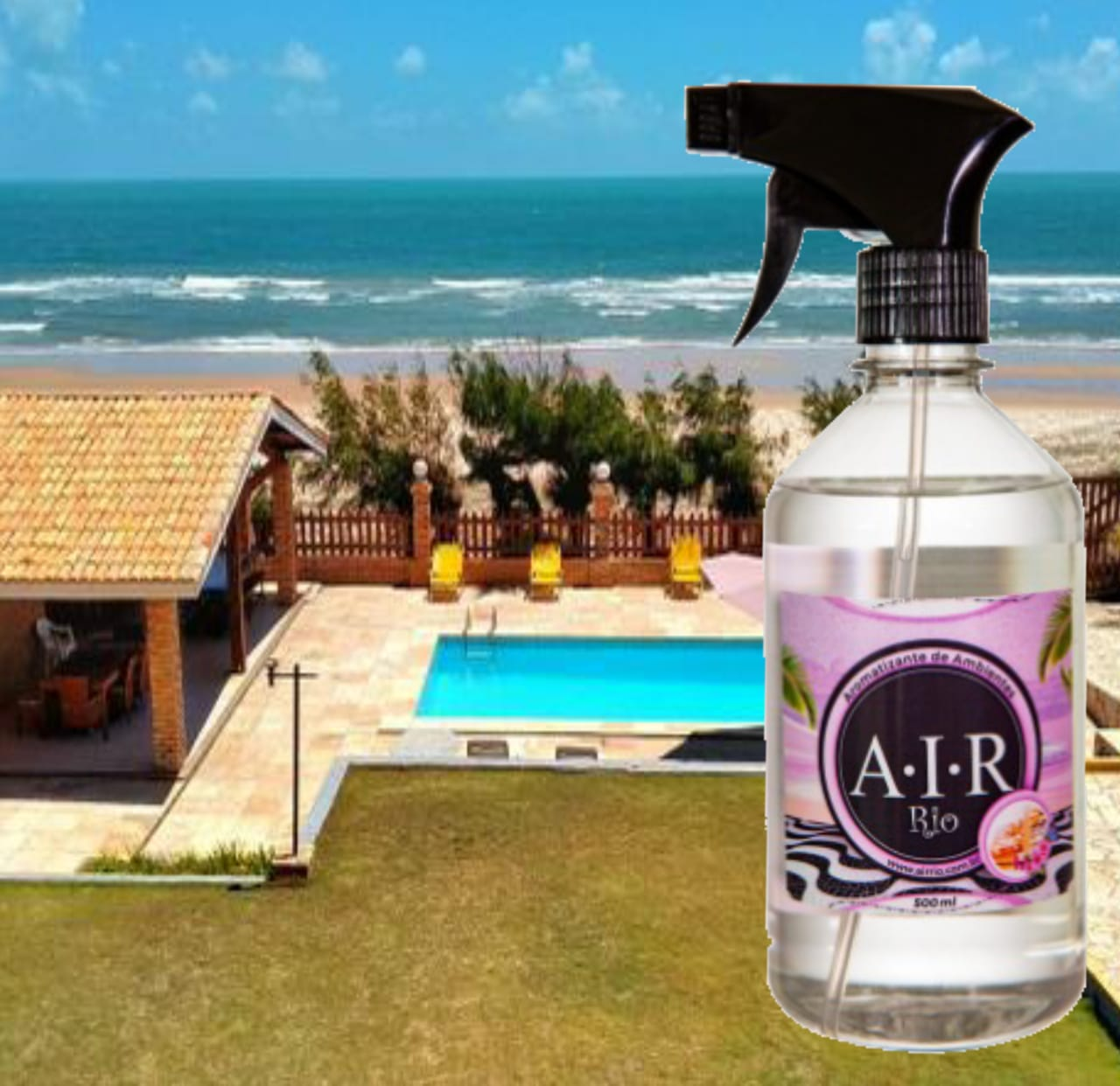 AROMATIZADOR DE AMBIENTE SPRAY AIR RIO - 7714 - Cítrica Verde - 500ML