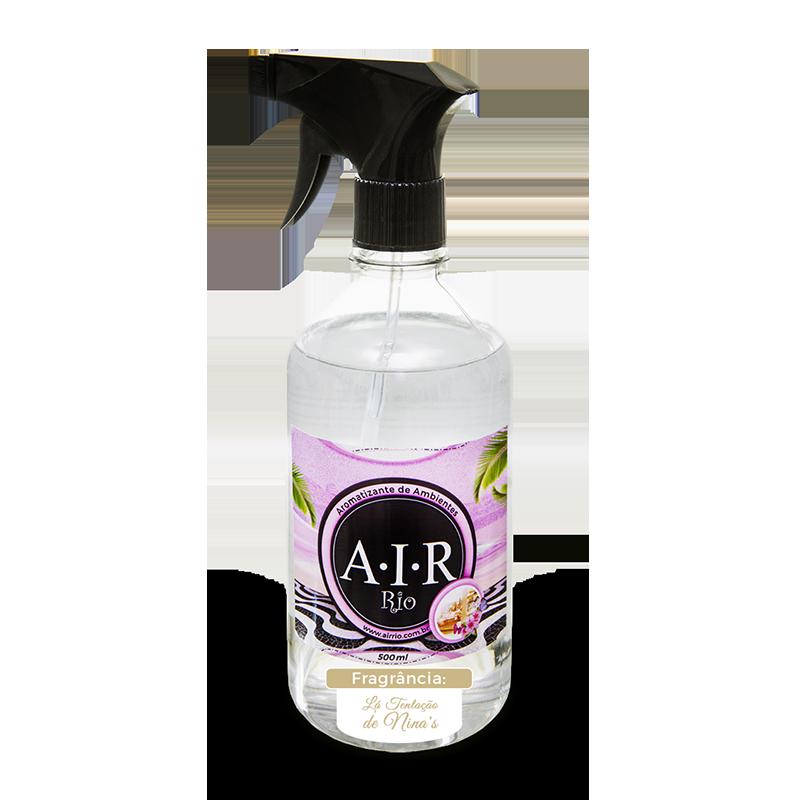 AROMATIZADOR DE AMBIENTE SPRAY AIR RIO - Lá Tentação de Nina's - Parfum - 500ML