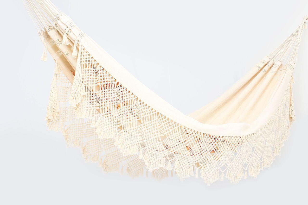 Rede de Dormir Descanso Casal Artesanal Luxo