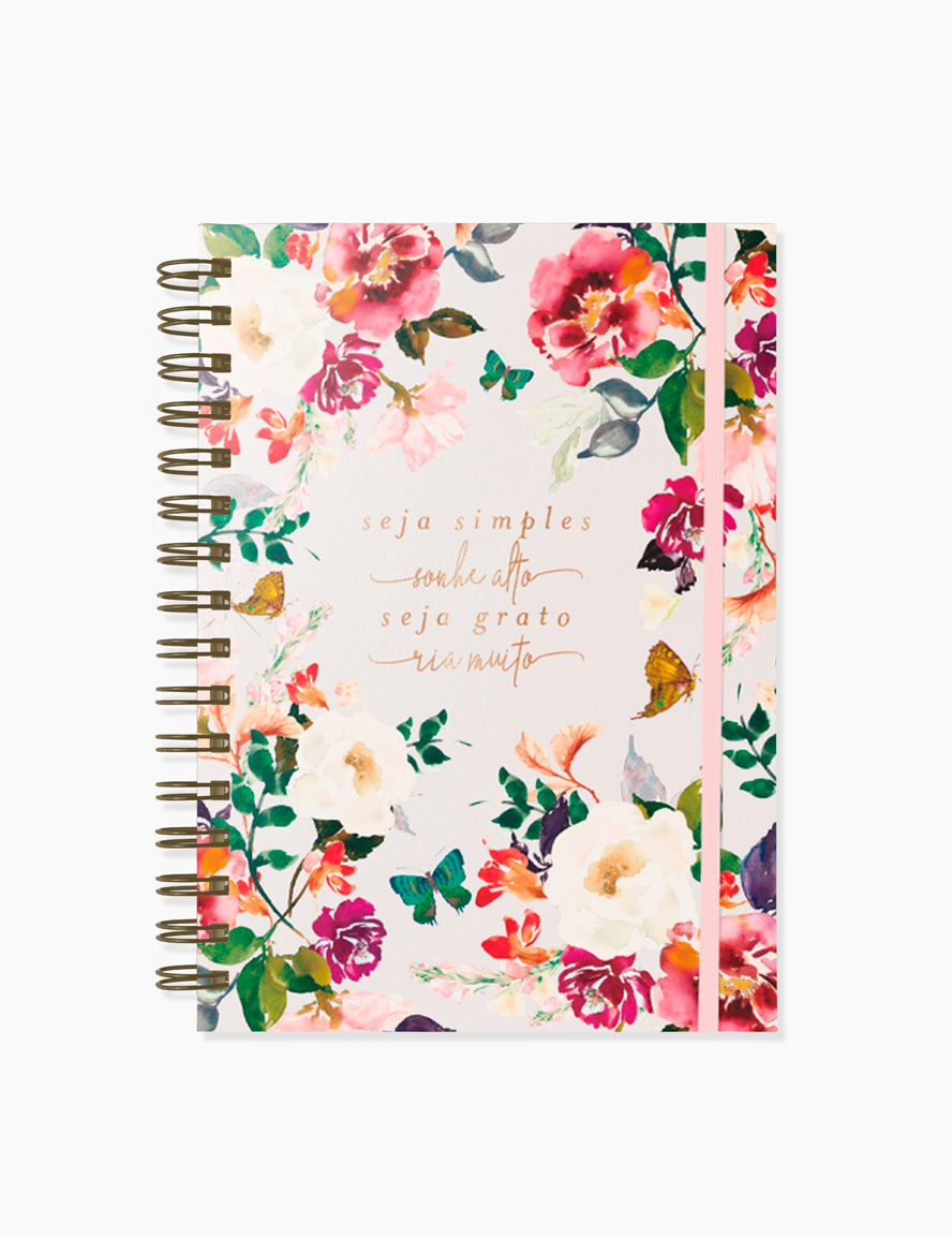 CADERNO PAUTADO BLOOM