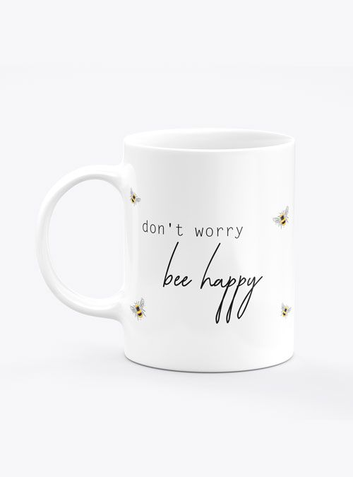 Caneca Don't Worry Bee Happy