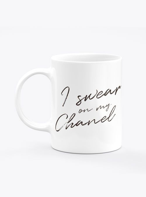 Caneca I Swear on My Chanel