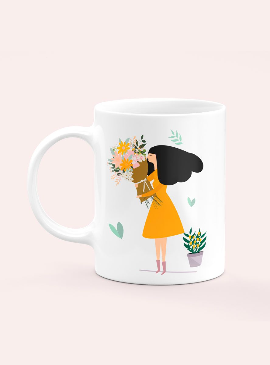 Caneca Personalizada Smell The Flowers