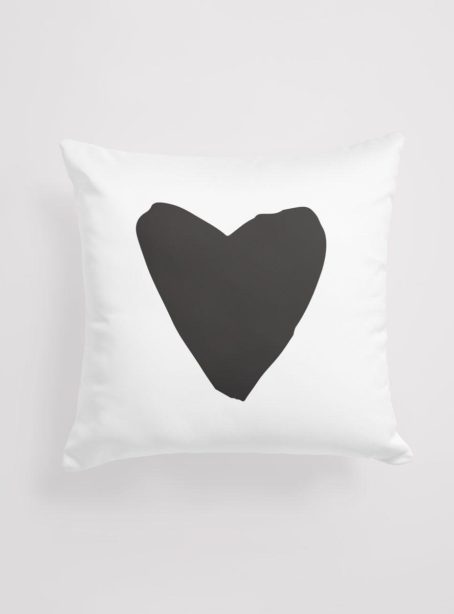 Capa Almofada Black Heart