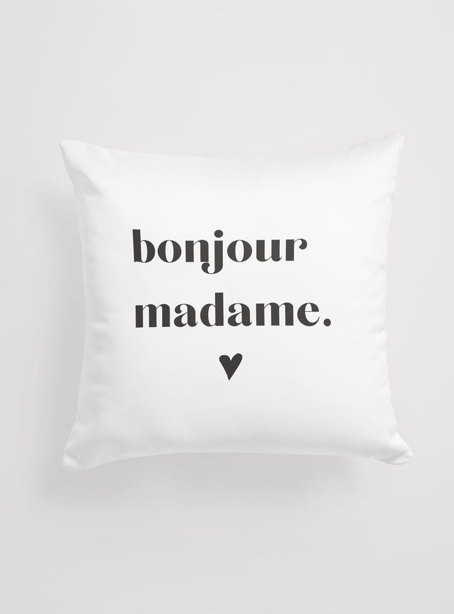 Capa Almofada Bonjour Madame
