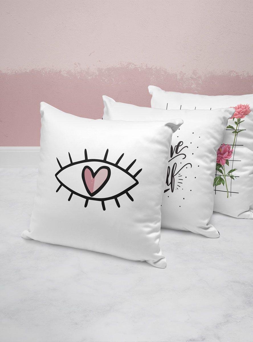 Capa Almofada Heart Eye