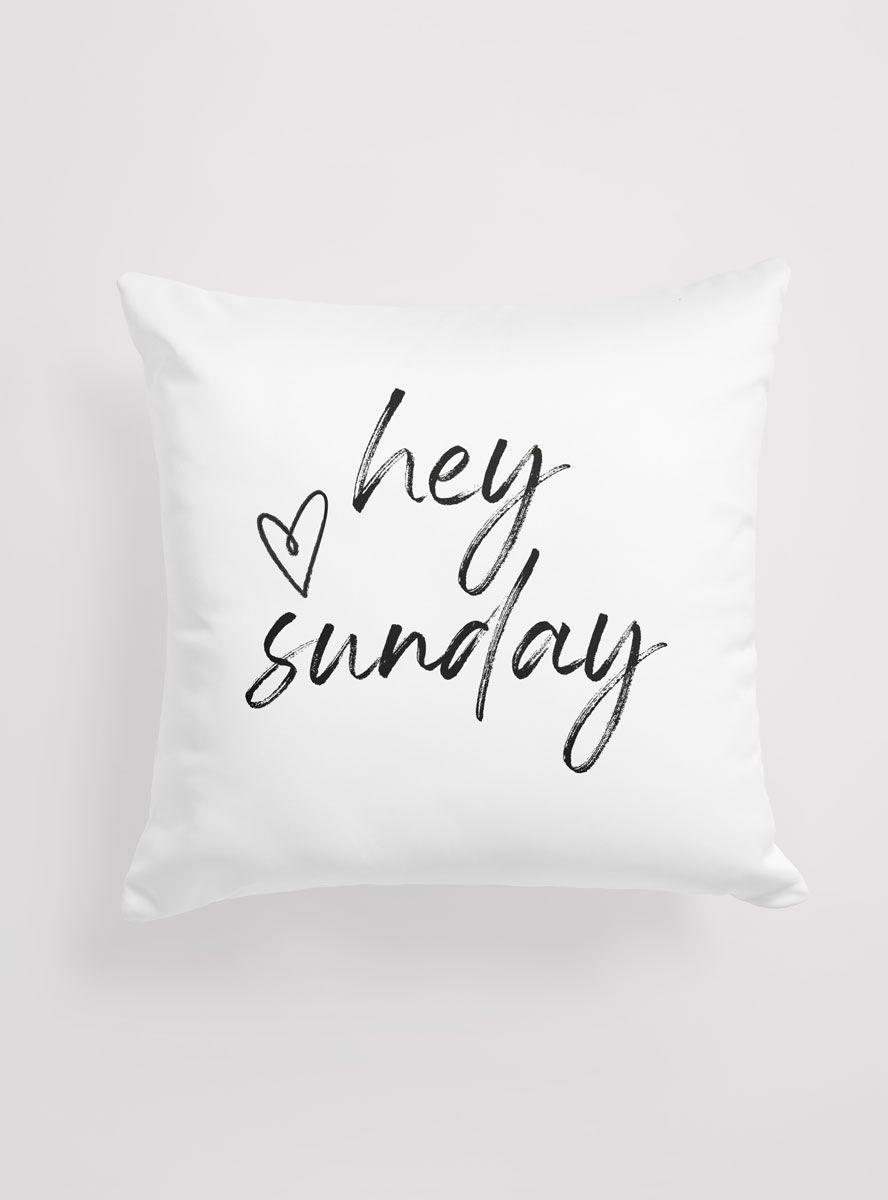 Capa Almofada Hey Sunday