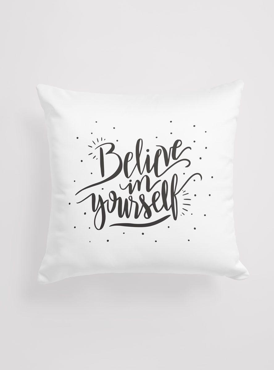 Capa de Almofada Believe in Yourself